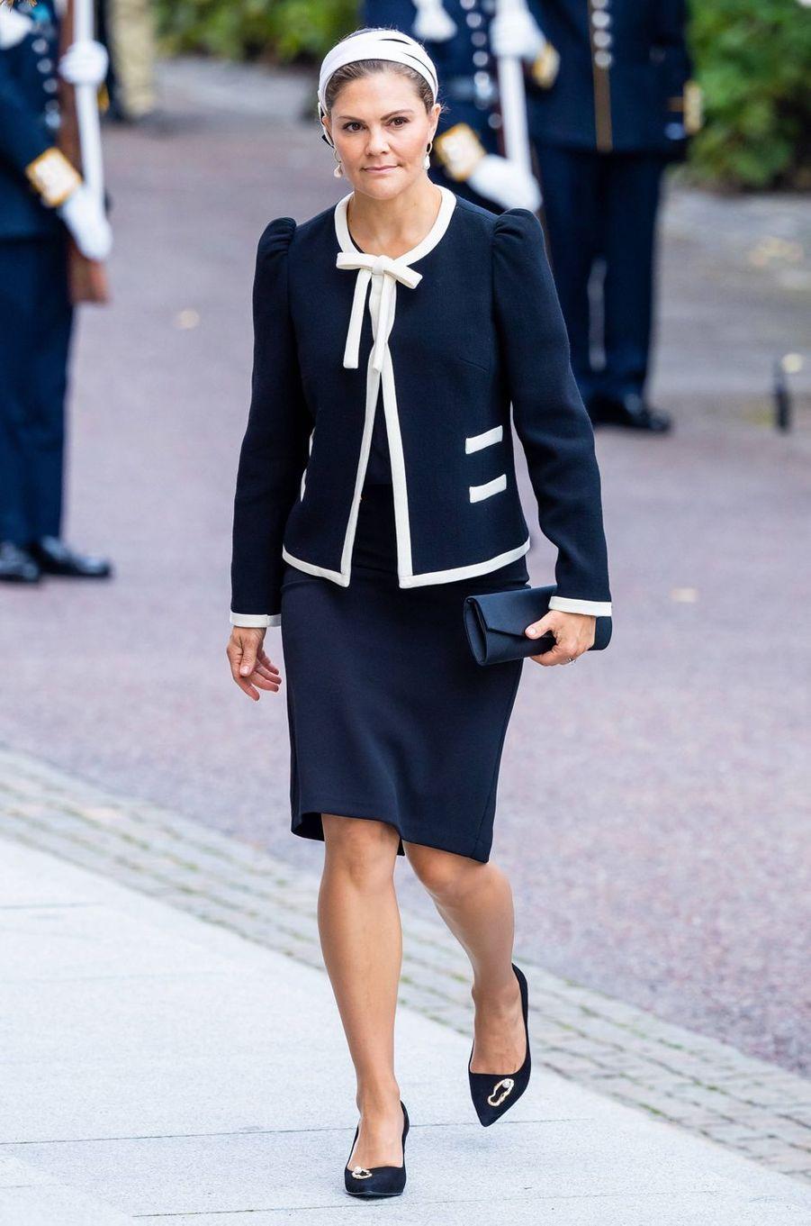 La princesse Victoria de Suède à Stockholm, le 10 septembre 2019