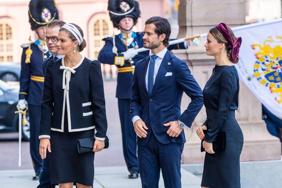 Les princesses Victoria et Sofia et les princes Daniel et Carl Philip de Suède à Stockholm, le 10 septembre 2019