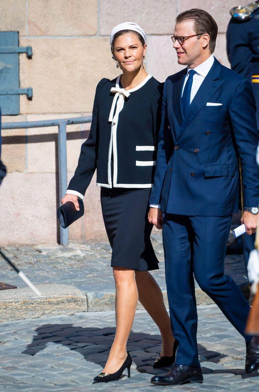 La princesse Victoria de Suède et le prince consort Daniel à Stockholm, le 10 septembre 2019