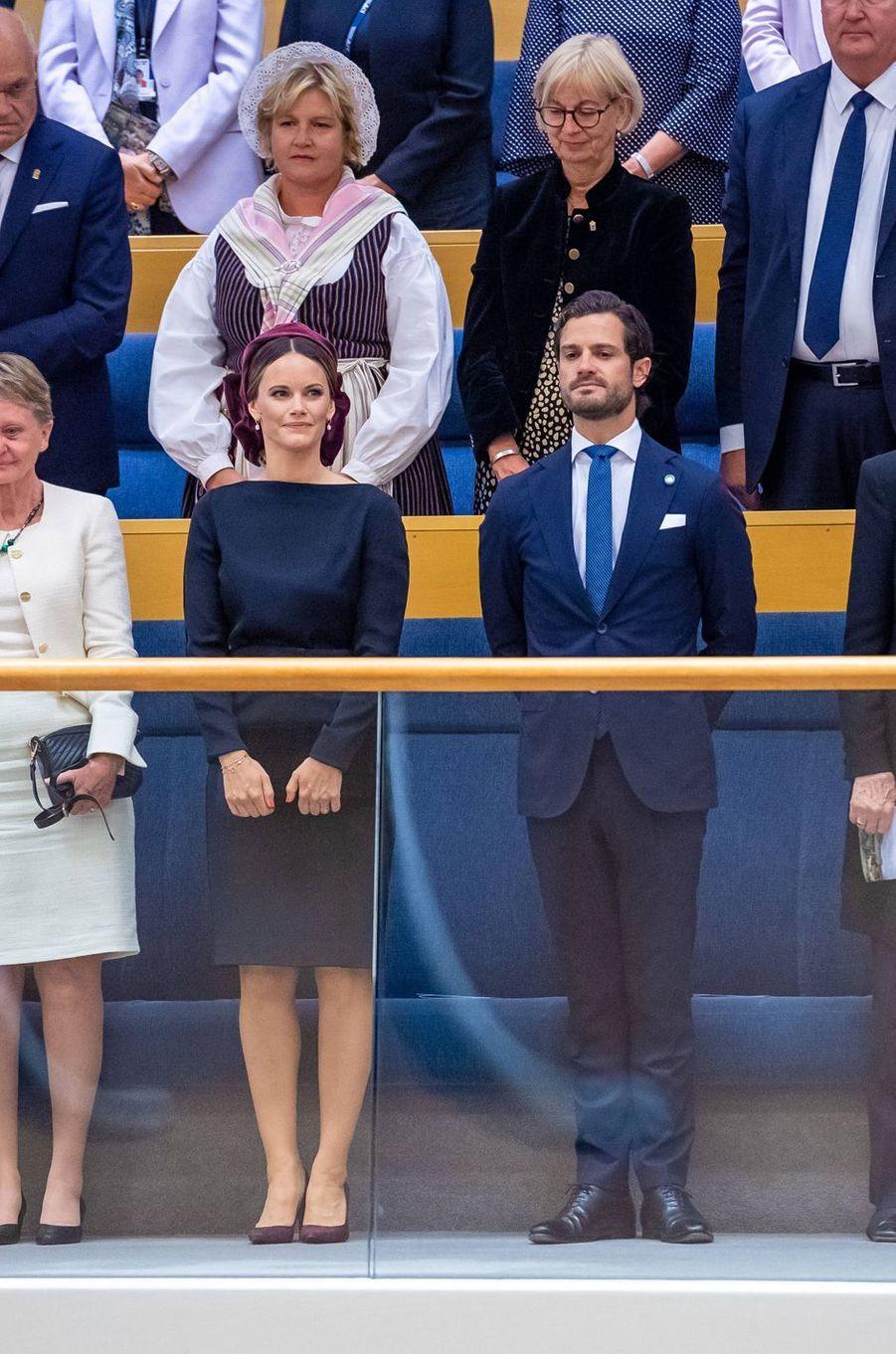 La princesse Sofia et le prince Carl Philip de Suède à Stockholm, le 10 septembre 2019
