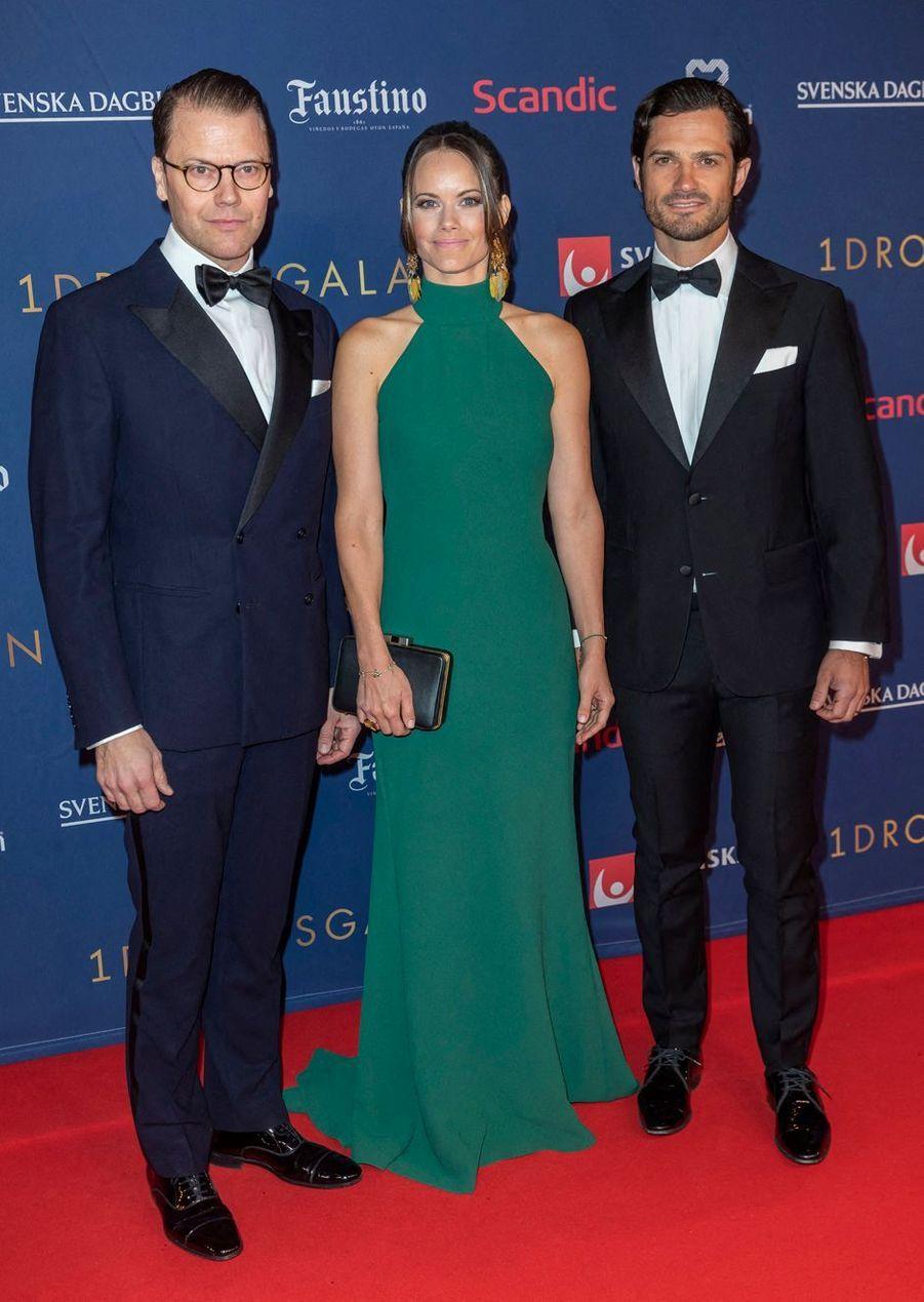 La princesse Sofia de Suède avec son beau-frère le prince consort Daniel et son mari le prince Carl Philip à Stockholm, le 27 janvier 2020