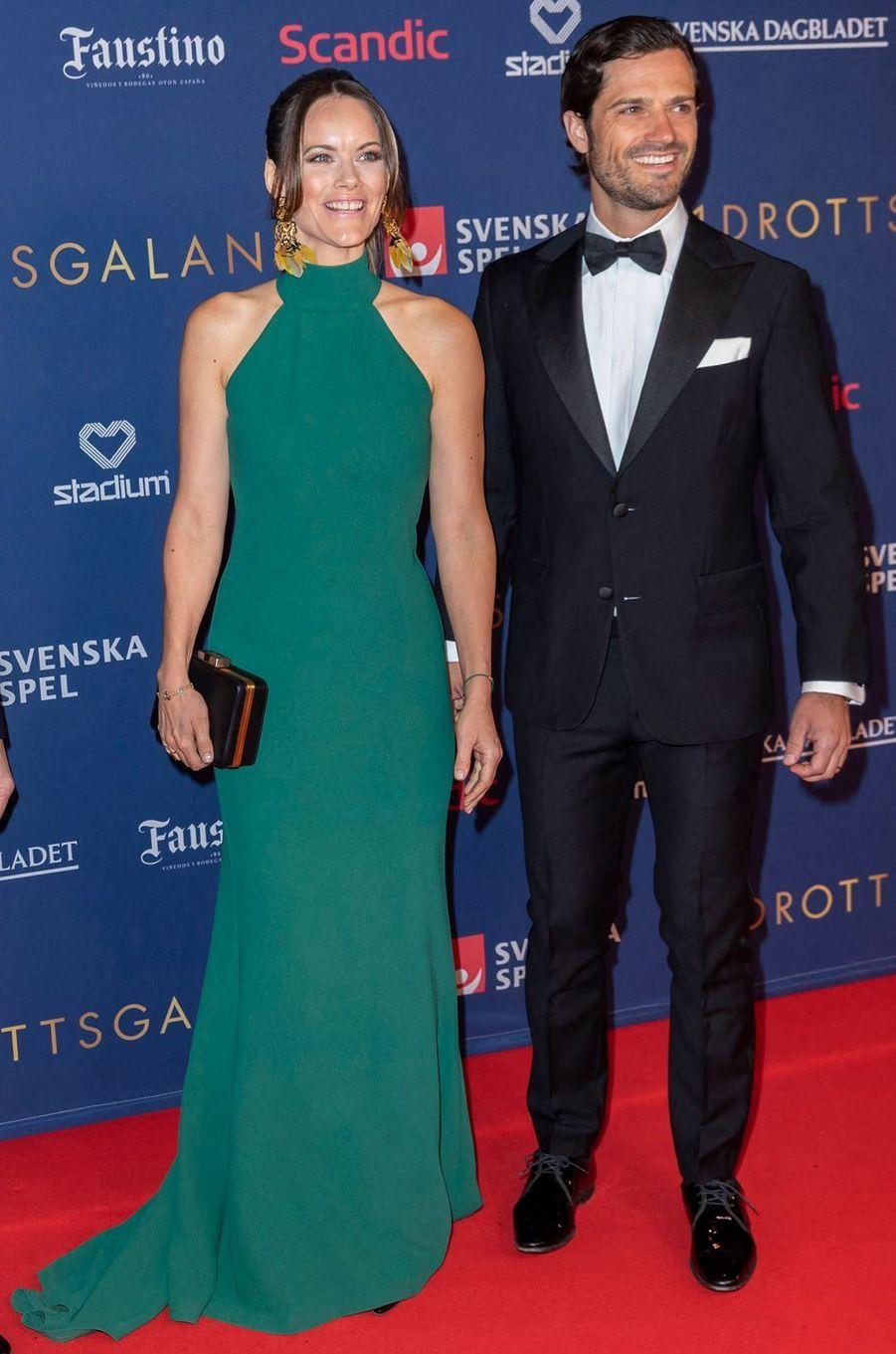 La princesse Sofia et le prince Carl Philip de Suède à Stockholm, le 27 janvier 2020