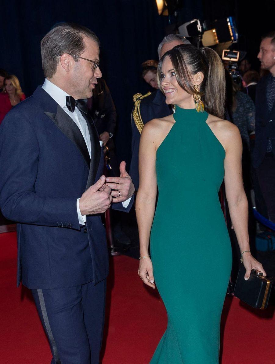 La princesse Sofia et le prince Daniel de Suède à Stockholm, le 27 janvier 2020