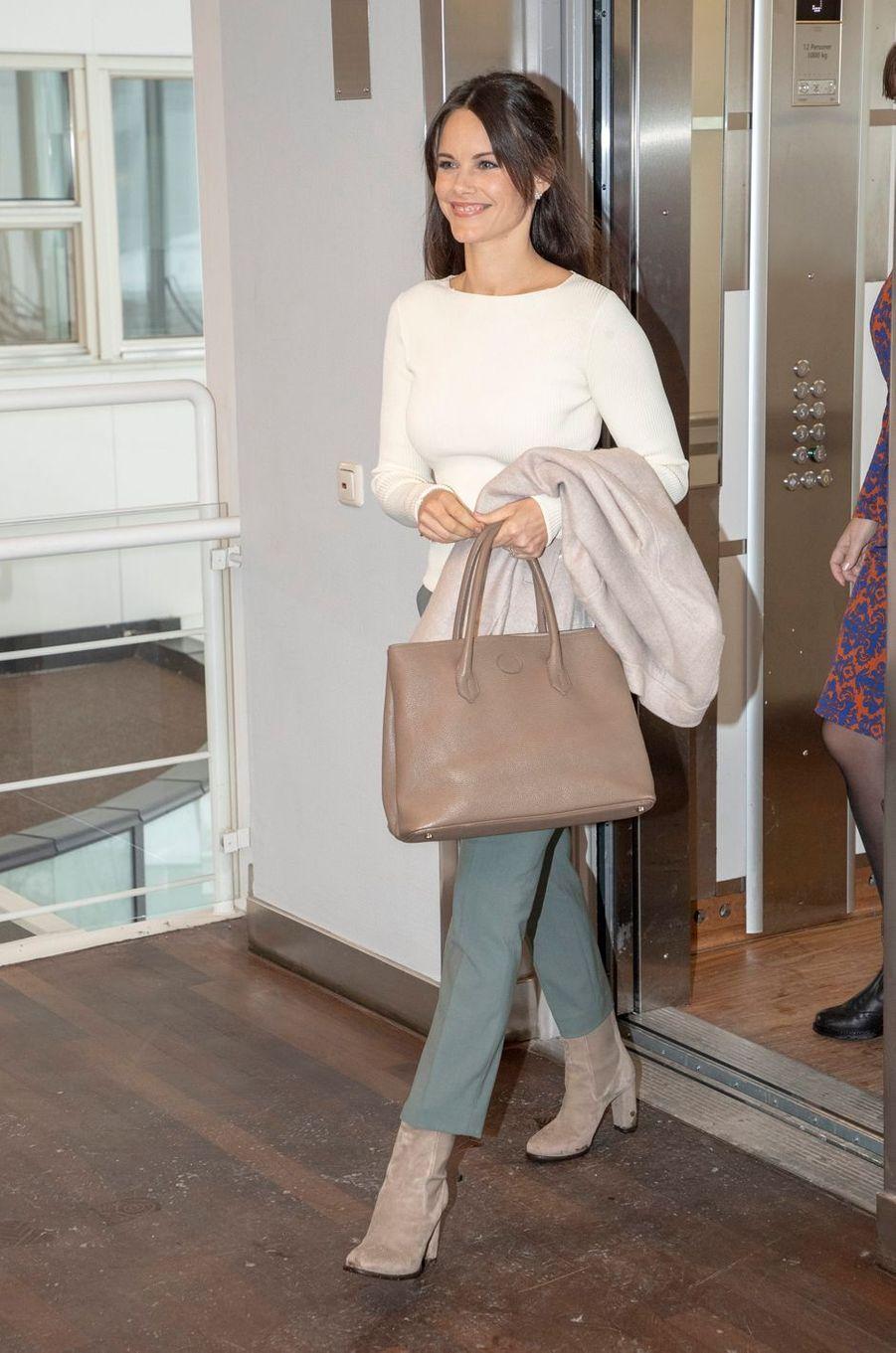 La princesse Sofia de Suède fait sa rentrée 2019 à Stockholm, le 1er février 2019