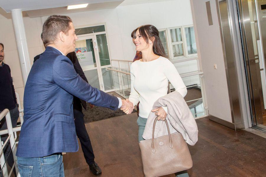 La princesse Sofia de Suède fait sa rentrée à Stockholm, le 1er février 2019