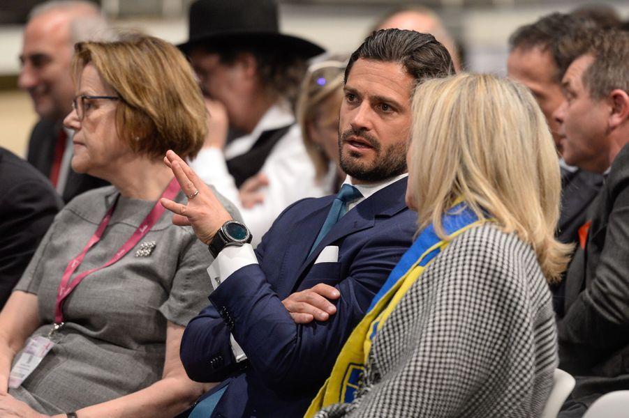 Le prince Carl Philip de Suède à Lyon, le 30 janvier 2019