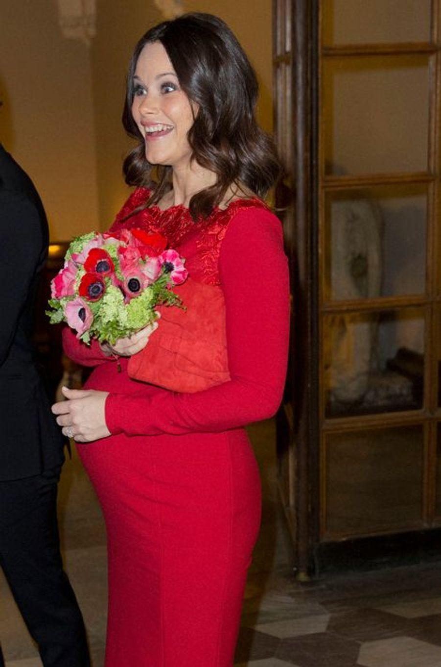 La princesse Sofia de Suède à Stockholm, le 19 février 2016