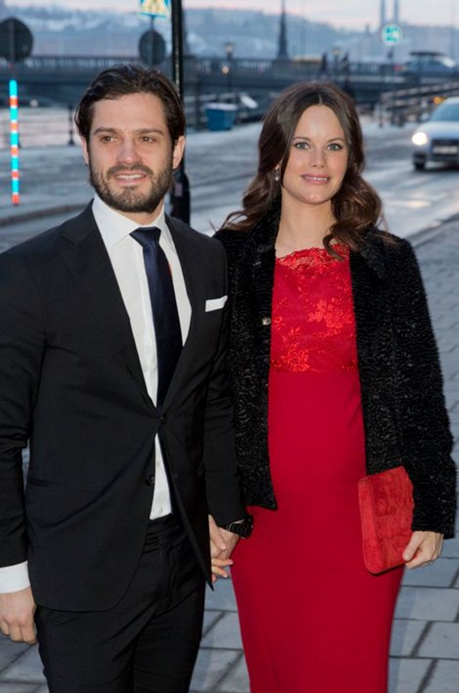 La princesse Sofia et le prince Carl Philip de Suède à Stockholm, le 19 février 2016