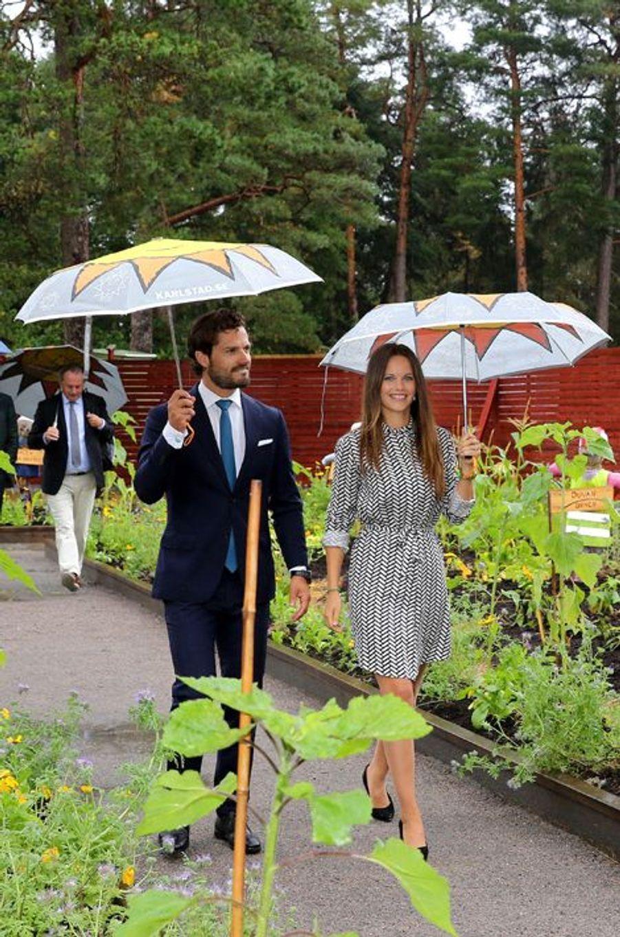 La princesse Sofia et le prince Carl Philip de Suède à Karlstad, le 27 août 2015