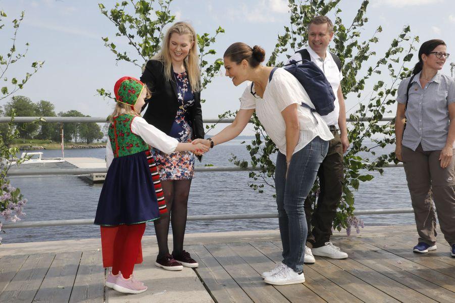 La princesse Victoria de Suède accueillie dans le Gästrikland, le 7 juin 2019