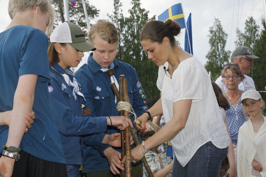 La princesse héritière Victoria de Suède dans le Gästrikland, le 7 juin 2019