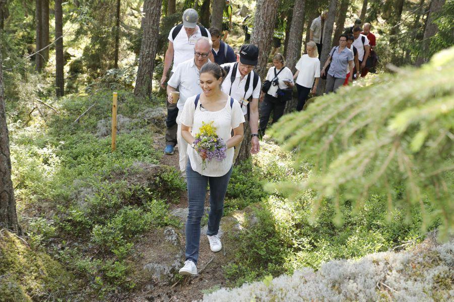 La princesse Victoria de Suède fait sa 24e randonnée dans le Gästrikland, le 7 juin 2019