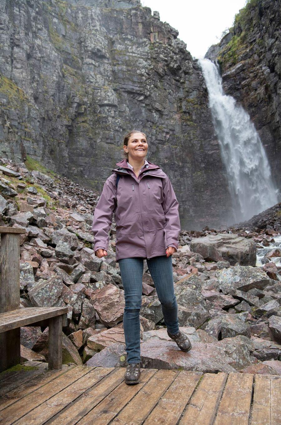 La princesse Sofia de Suède dans le parc national de Fulufjället, le 12 juin 2019