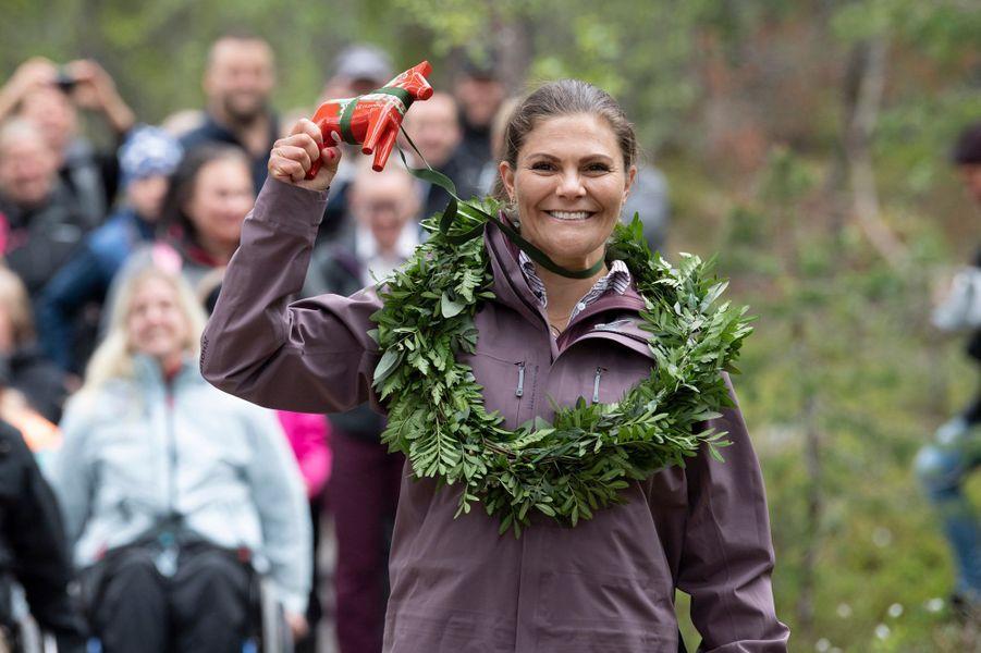 La princesse Victoria de Suède dans le parc national de Fulufjället en Dalécarlie, le 12 juin 2019