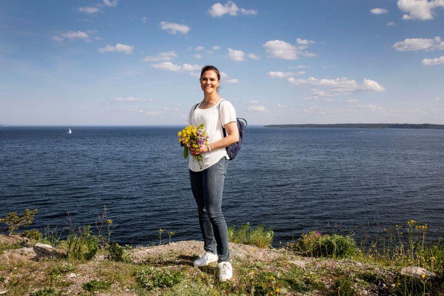 La princesse Victoria de Suède dans le Gästrikland, le 7 juin 2019