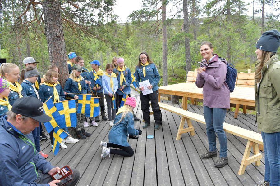 Les princesses Victoria et Sofia de Suède dans le parc national de Fulufjället en Dalécarlie, le 12 juin 2019