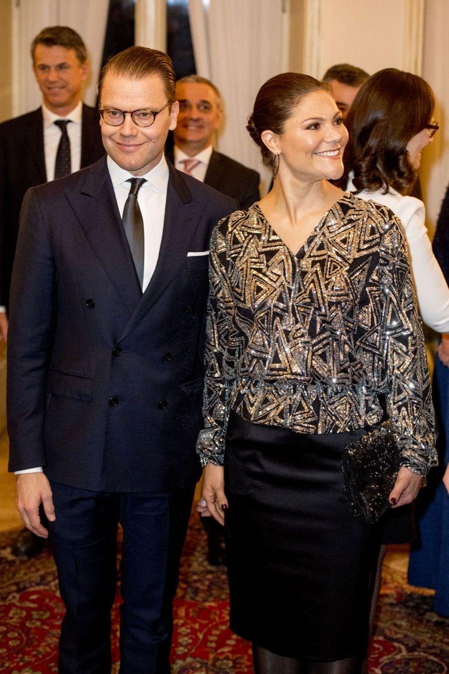 Le Prince Oscar, La Princesse Victoria De Suède Et Le Prince Daniel À Milan 15