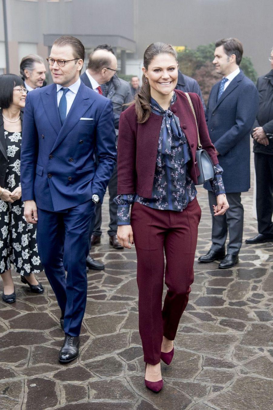 Le Prince Oscar, La Princesse Victoria De Suède Et Le Prince Daniel À Milan 21
