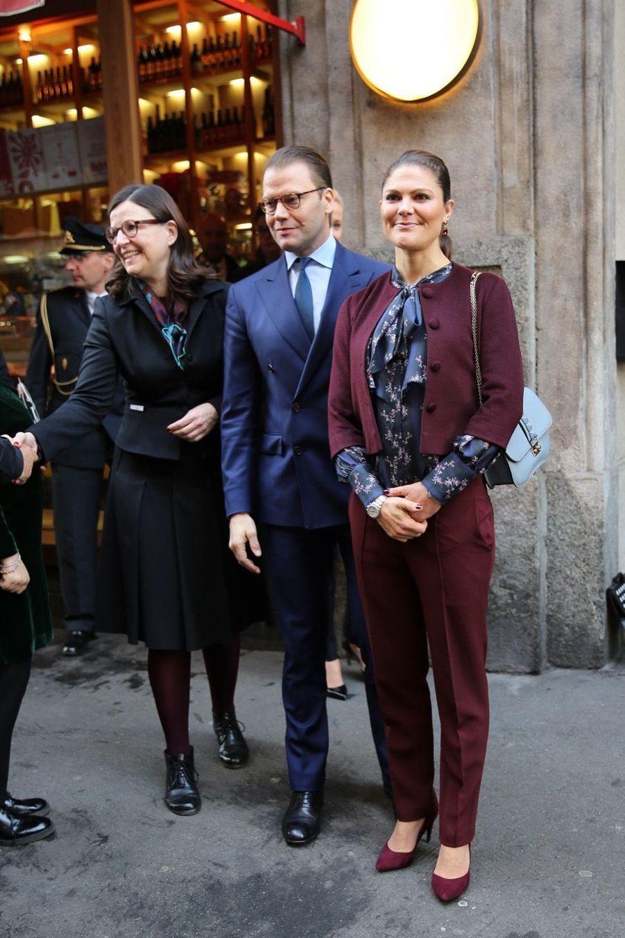 Le Prince Oscar, La Princesse Victoria De Suède Et Le Prince Daniel À Milan 27