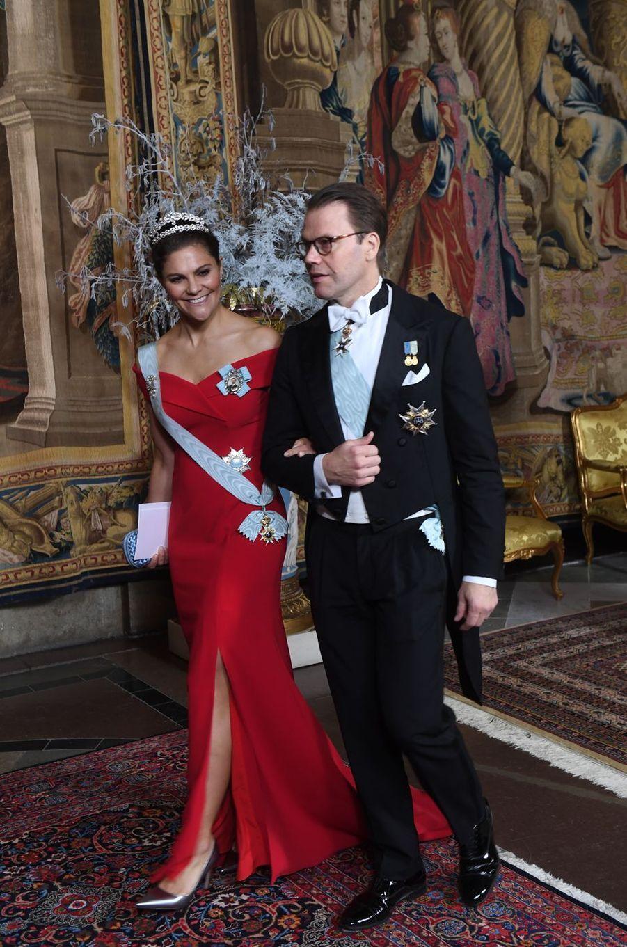 La princesse Victoria de Suède et le prince consort Daniel à Stockholm, le 11 décembre 2018