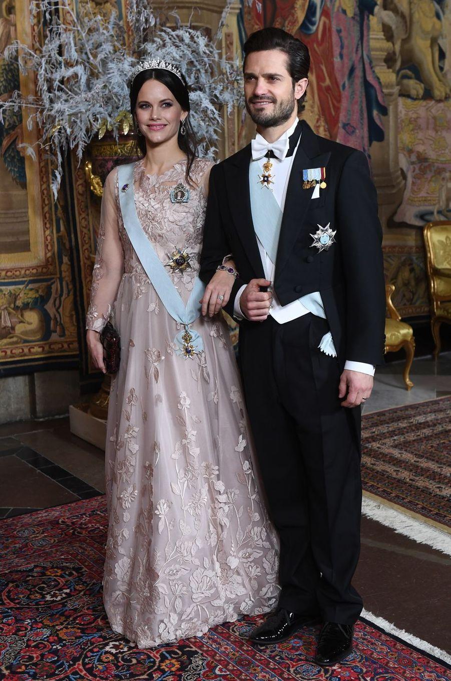 La princesse Sofia et le prince Carl Philip de Suède à Stockholm, le 11 décembre 2018