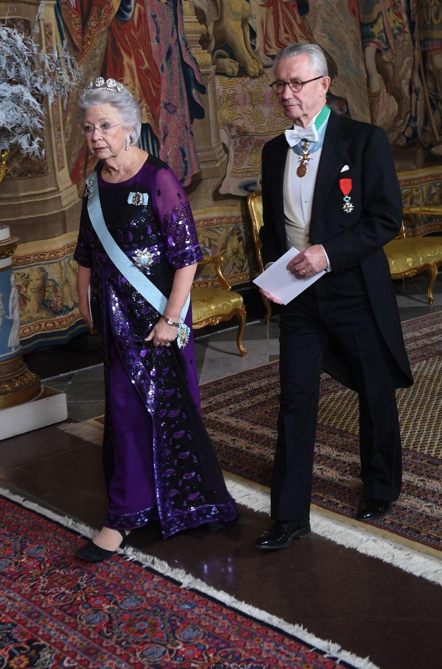 La princesse Christina de Suède et son mari Tord Magnuson à Stockholm, le 11 décembre 2018