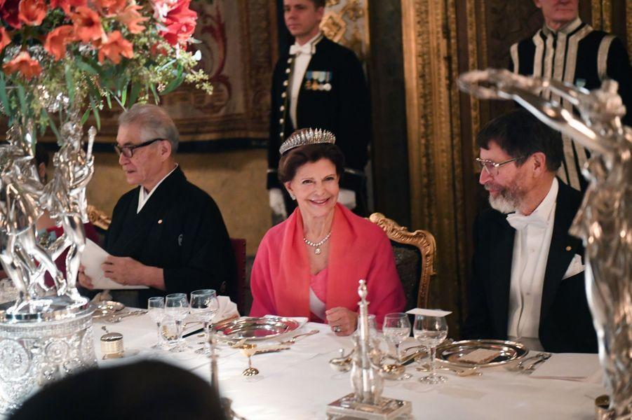 La reine Silvia de Suède à Stockholm, le 11 décembre 2018