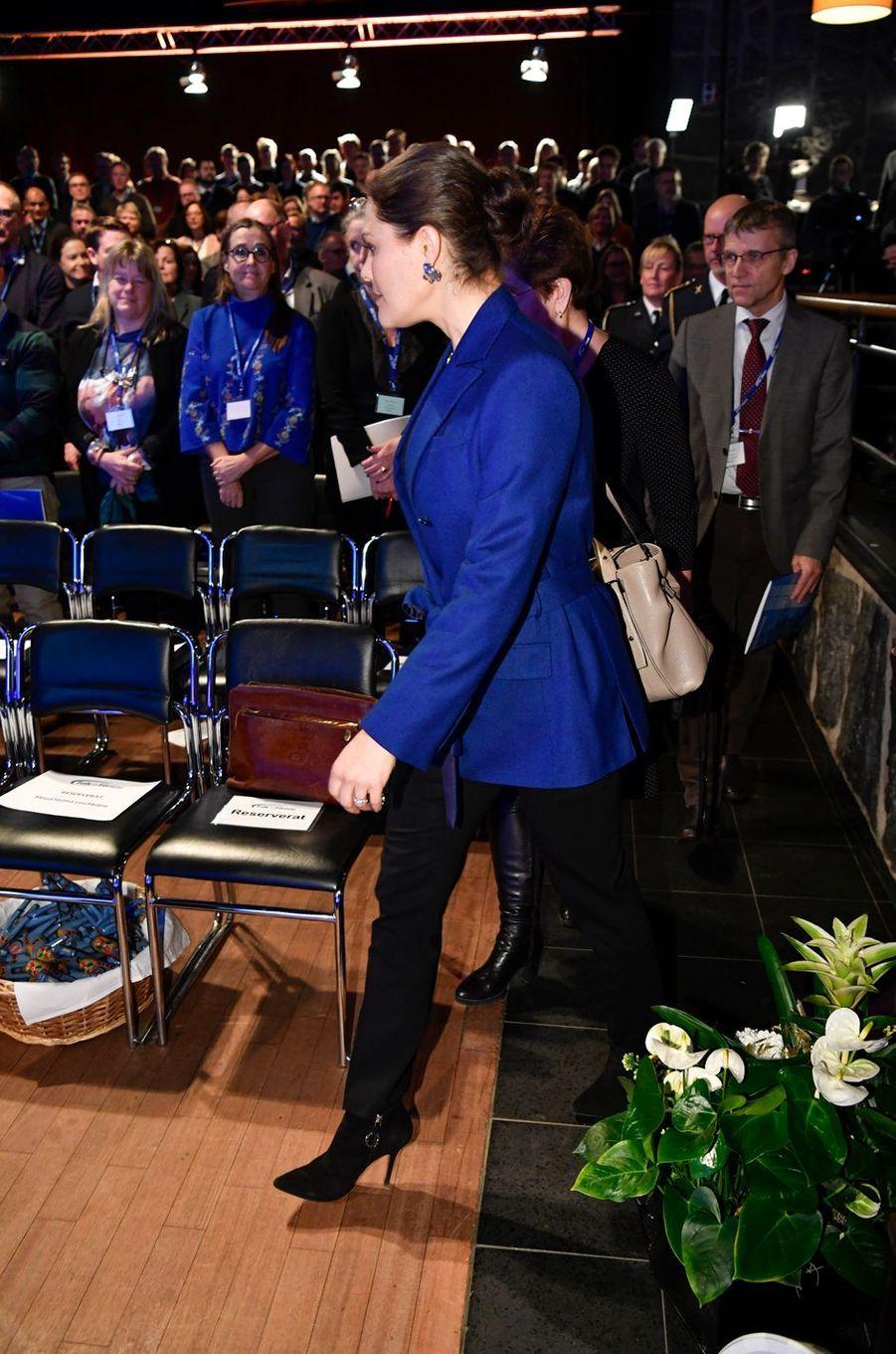 La princesse Victoria de Suède à la Conférence nationale de défense à Sälen, le 13 janvier 2018