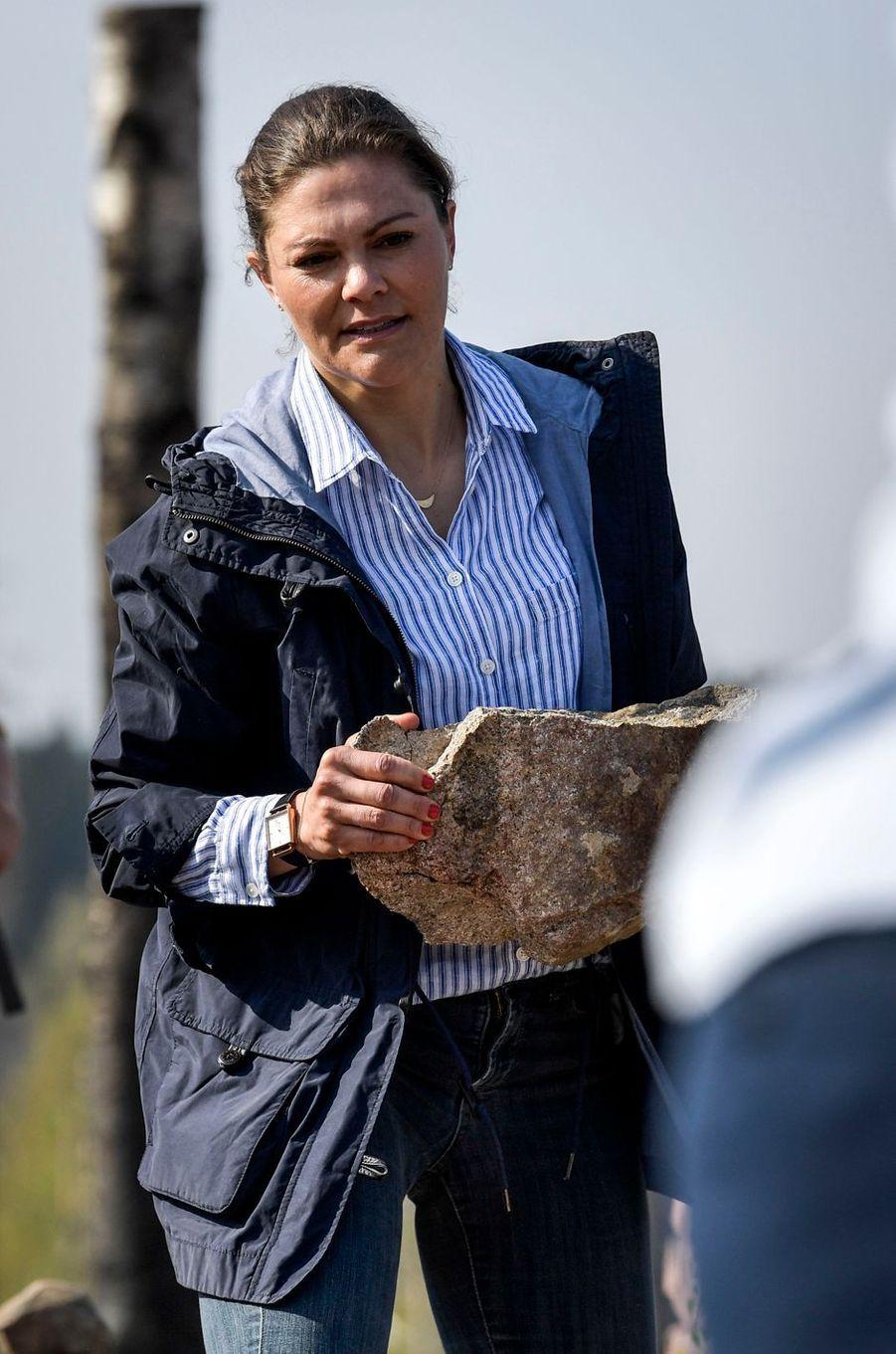 La princesse Victoria de Suède dans le Västmanland, le 26 avril 2019