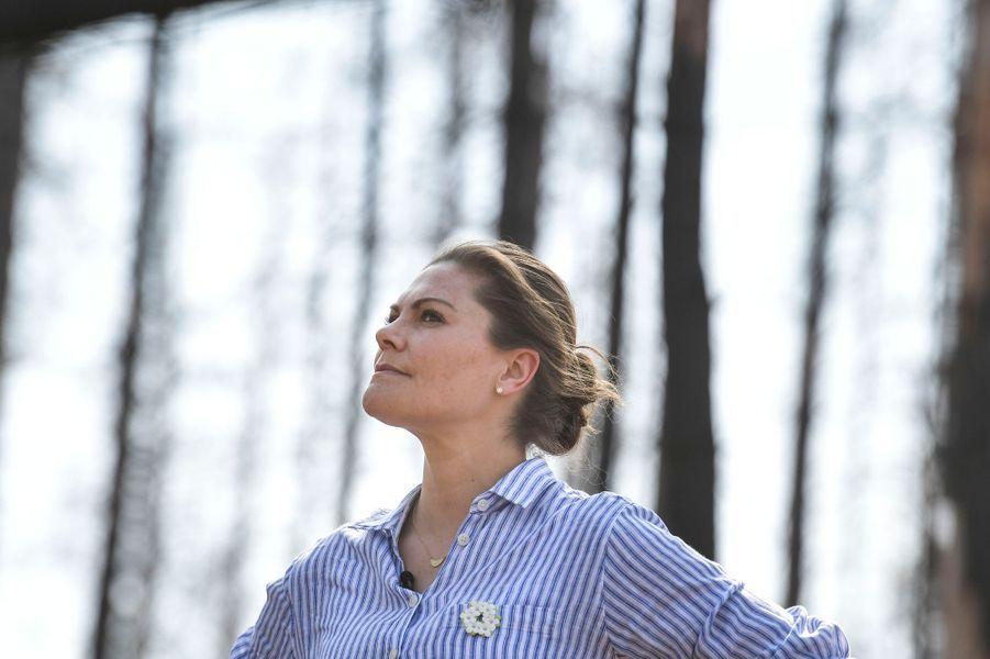 La princesse héritière Victoria de Suède dans le Västmanland, le 26 avril 2019