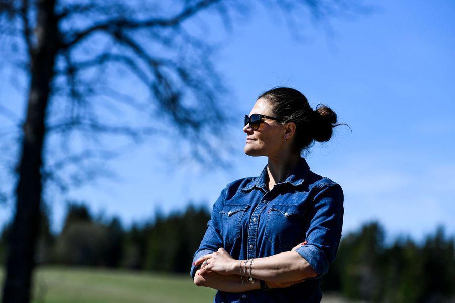 La princesse Victoria de Suède sur l'île d'Andersön, le 17 mai 2019