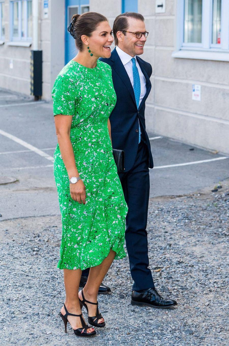 La princesse Victoria de Suède et son mari le prince Daniel à Stockholm, le 26 août 2020