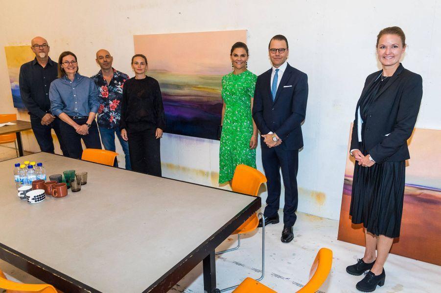 La princesse héritière Victoria de Suède et le prince Daniel à Stockholm, le 26 août 2020
