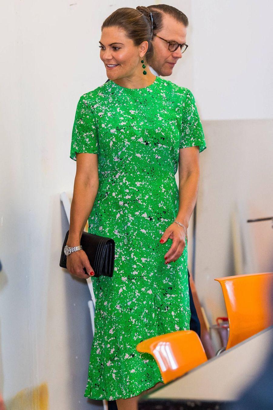 La princesse Victoria de Suède et le prince Daniel à Stockholm, le 26 août 2020