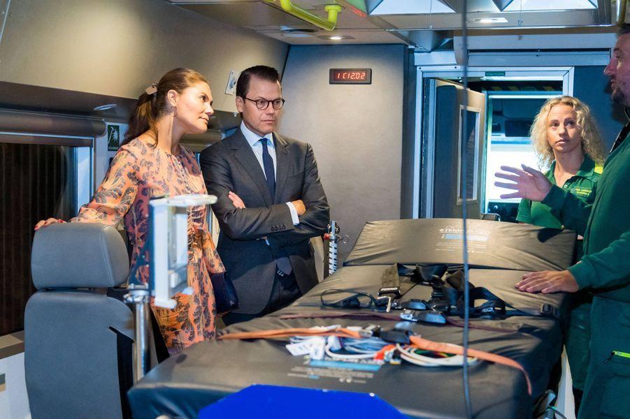 La princesse Victoria de Suède et le prince Daniel à Stockholm, le 27 août 2020