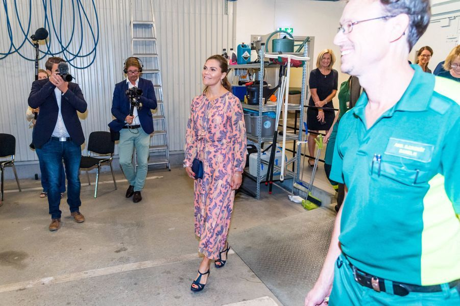 La princesse Victoria de Suède à Stockholm, le 27 août 2020