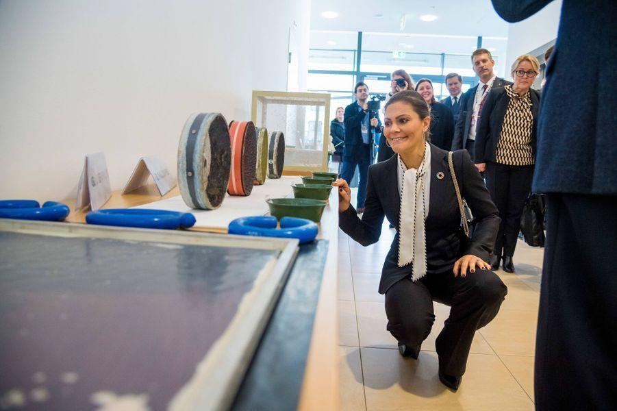 La princesse Victoria de Suède à Vienne, le 28 novembre 2018