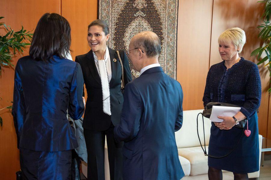 La princesse héritière Victoria de Suède à Vienne, le 28 novembre 2018