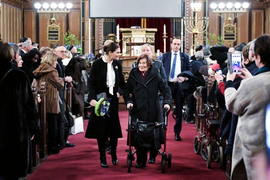 La princesse Victoria de Suède à Stockholm, le 27 janvier 2019