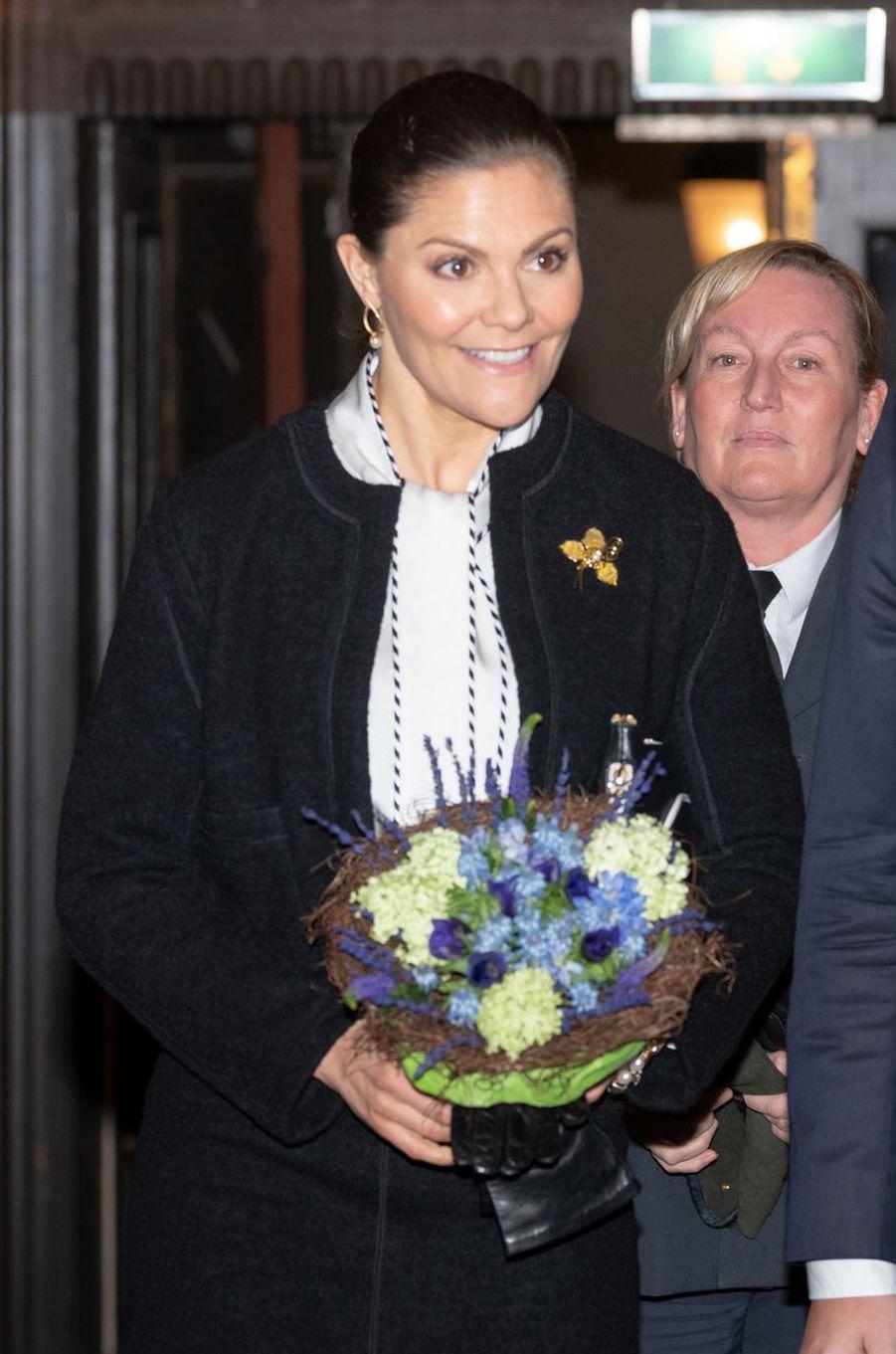 La princesse héritière Victoria de Suède à Stockholm, le 27 janvier 2019
