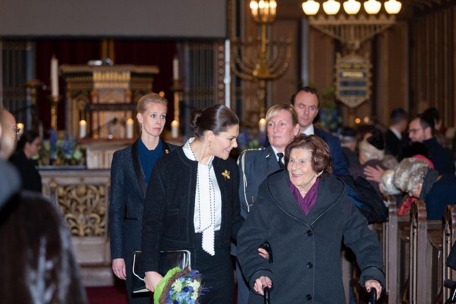 La princesse Victoria de Suède, le 27 janvier 2019 à Stockholm