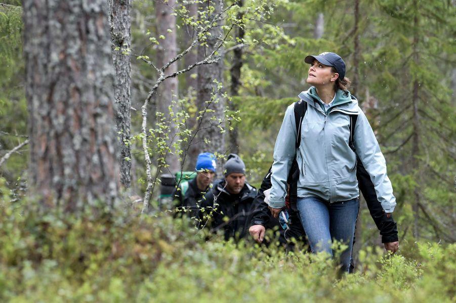 La princesse héritière Victoria de Suède en randonnée dans le Medelpad, le 29 mai 2019