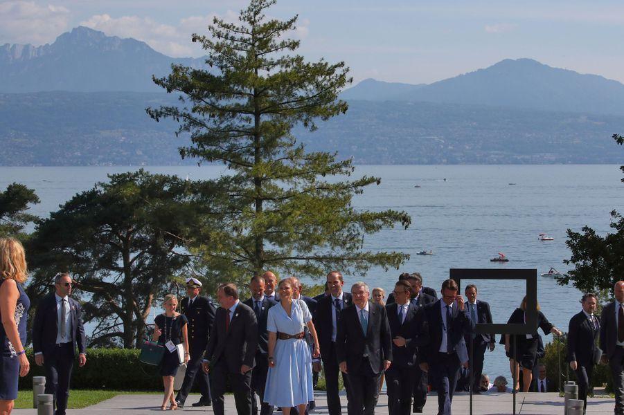 La princesse Victoria de Suède et le prince consort Daniel, à Lausanne en Suisse le 24 juin 2019