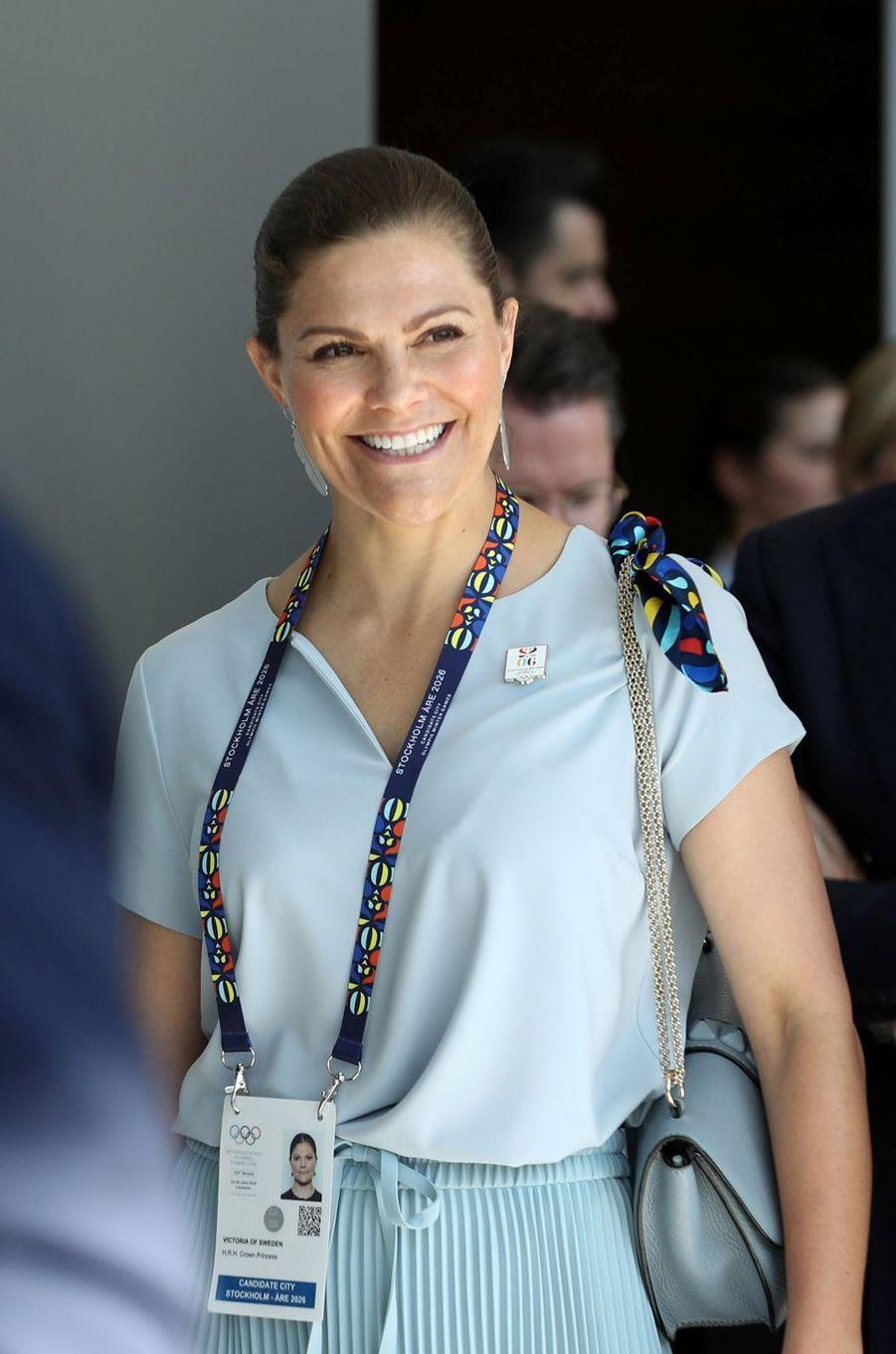 La princesse Victoria de Suède, à Lausanne le 24 juin 2019