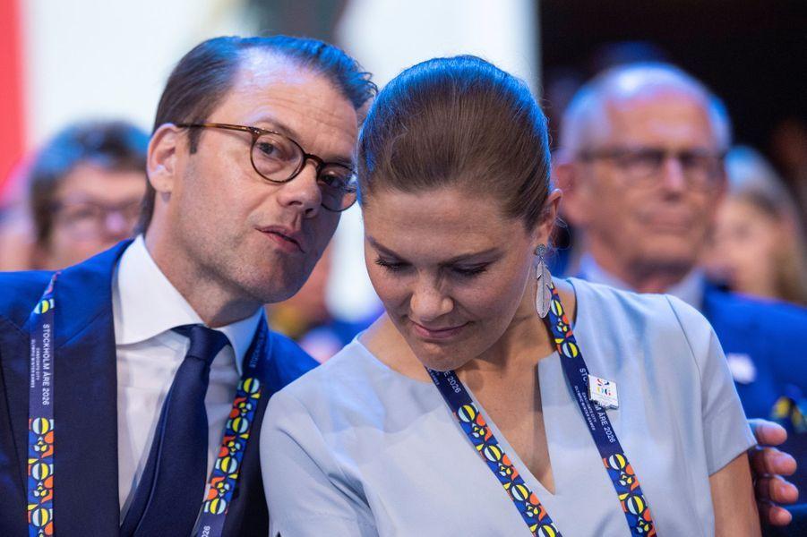 La princesse Victoria de Suède et le prince consort Daniel, à Lausanne le 24 juin 2019