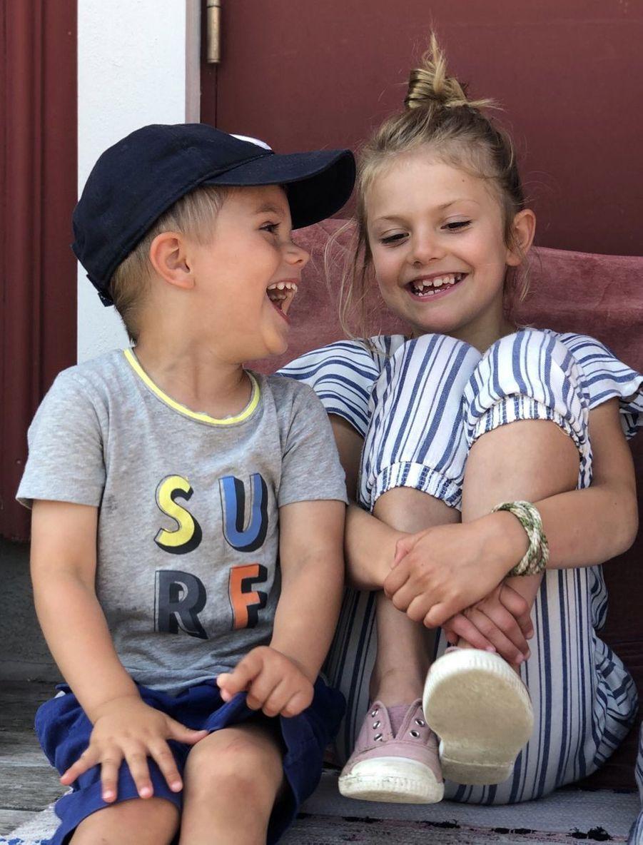 Le prince Oscar et la princesse Estelle de Suède dans le Bohusland, à l'été 2019