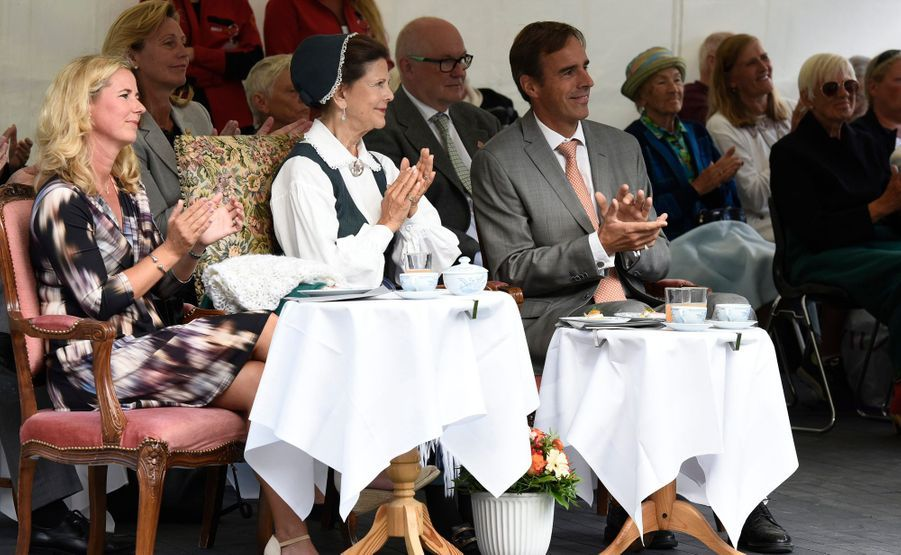 La reine Silvia de Suède à Ekero, le 26 août 2015