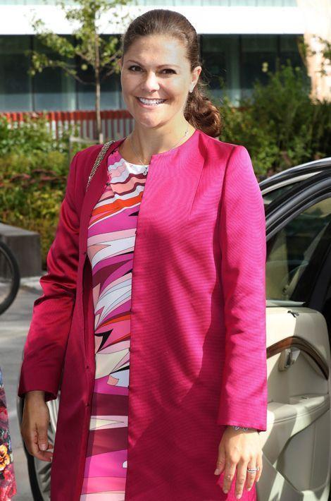 La princesse Victoria au Karolinska Institutet à Solna, le 22 septembre 2015
