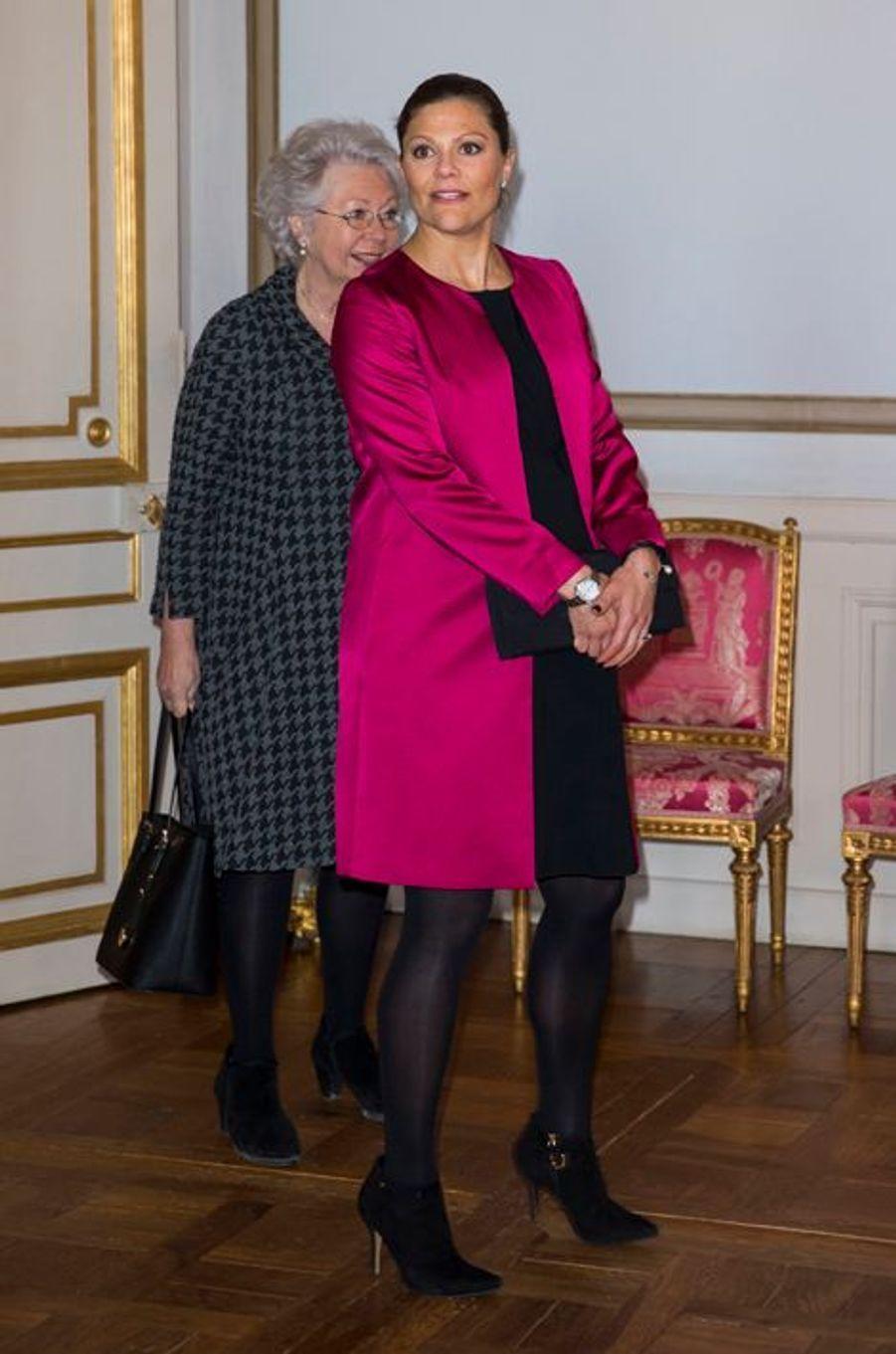 Les princesses Victoria et Cristina de Suède au Palais royal à Stockholm le 22 janvier 2016