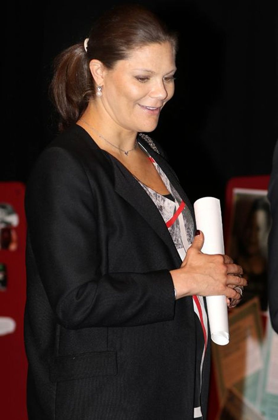 La princesse Victoria de Suède à Järfälla, le 25 janvier 2016